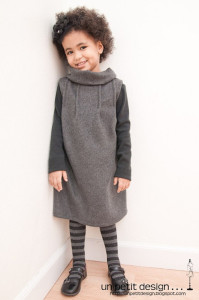 grey dress winter wear tutorial