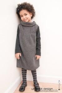 grey dress winter wear tutorial