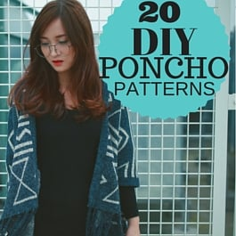 How to sew poncho - 20 patterns free