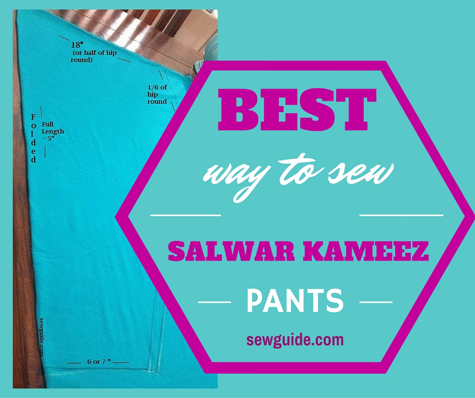 how to sew a salwar kameez pants