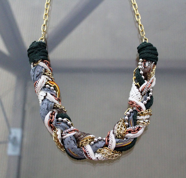 braided jewellery from fabric