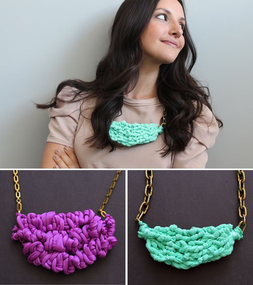make necklace out of fabric
