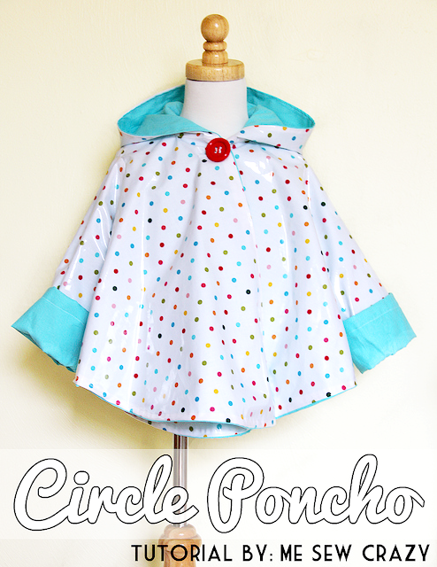 circle poncho kids raincoat