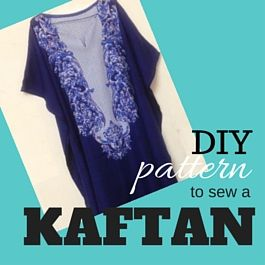 kaftan dress tutorial