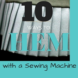 how to stitch hem of dresses