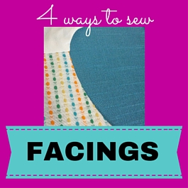 sew facing to your dress