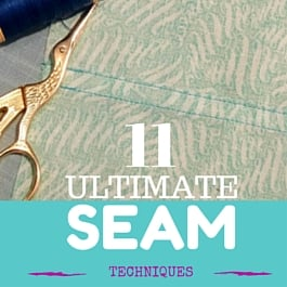 how to sew seams