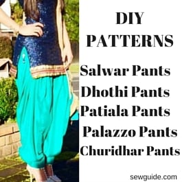 how to sew salwar pants
