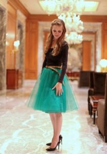 how to sew an easy tulle skirt