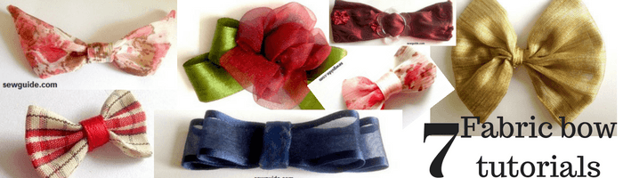 fabric bow tutorials