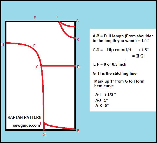 kaftan pattern