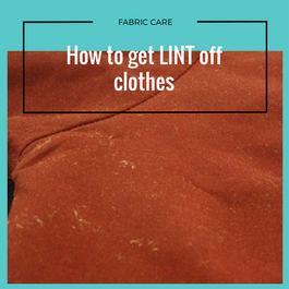 how to get lint removed from clothes