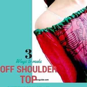off the shouder top sewing pattern