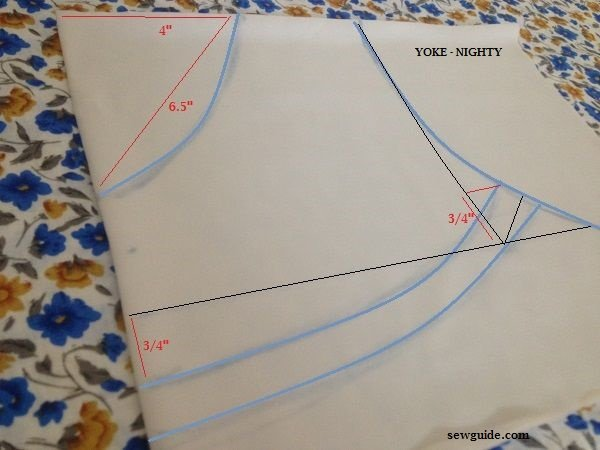 How To Stitch A Simple Nighty A Diy Night Dress Pattern