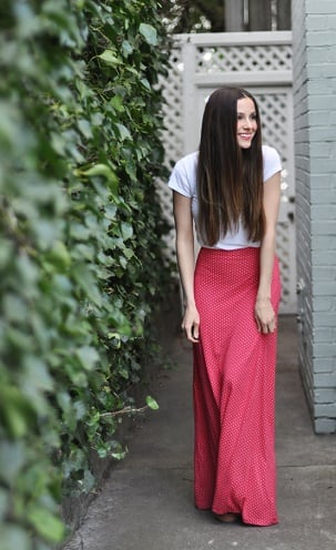 easy knit maxi skirt