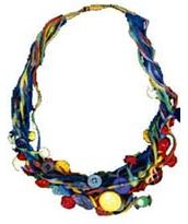 how to make a fabric necklace