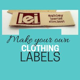 make clothing labels