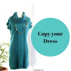 copy old dress to make a new one