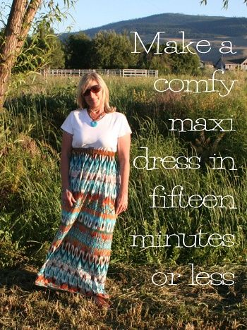 how to sew a maxi dress tutorial