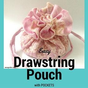 how to make drawstring bag