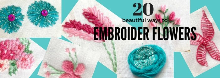 embroider flowers