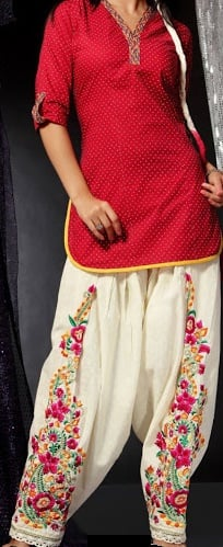 embroidered salwar pants