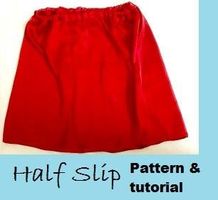 make a half slip