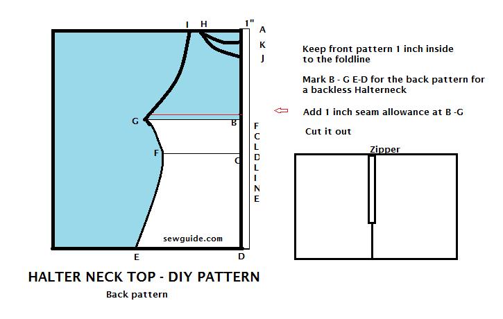 halter neck how to stitch