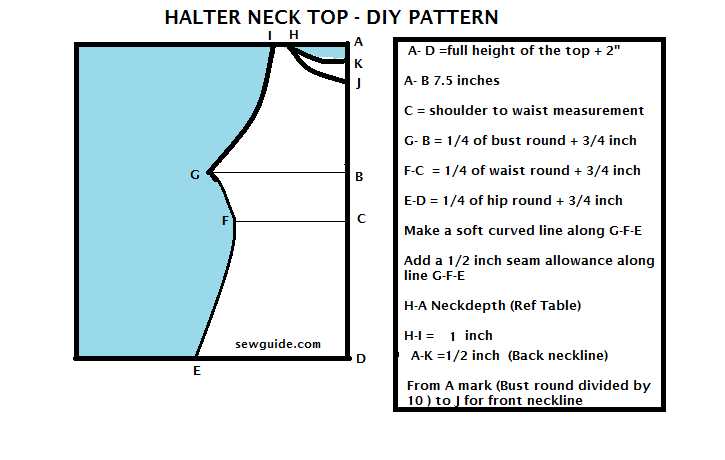 how to sew halter neck top