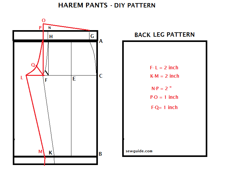 How to cut and sew harm pants