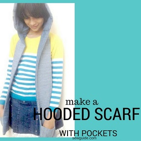 hooded scarf sewing pattern
