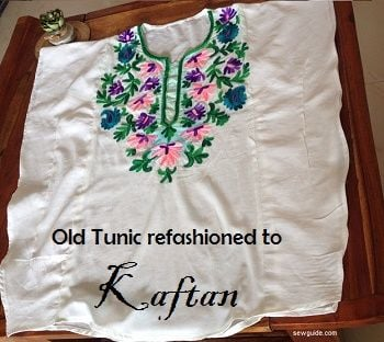 refashioned tunic to kaftan