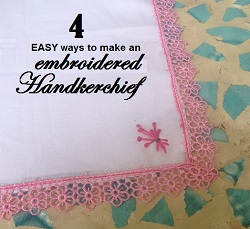 embroidered kerchief