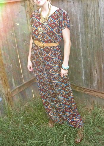 how to sew a kimono maxi skirt