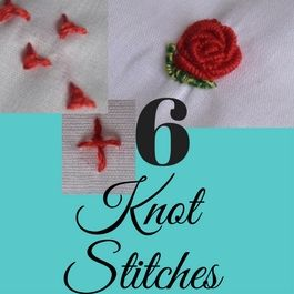 bullion stitch and french knot