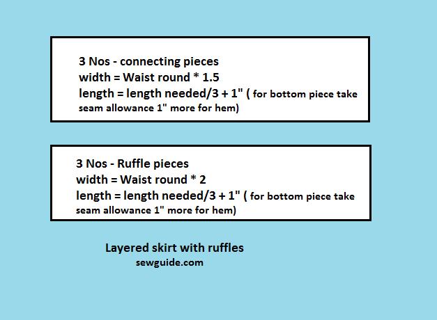 layered skirt with ruffles