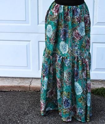 peasant skirt - maxi
