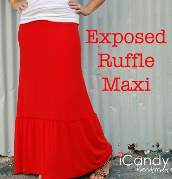 maxi with ruffle layer