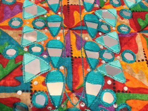 shisha embroidery or mirror work