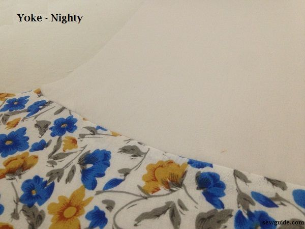 yoked nighty pattern