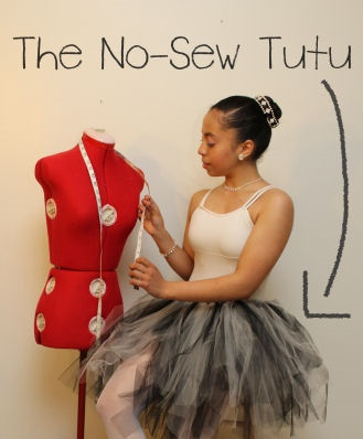 no sew ballerina skirt