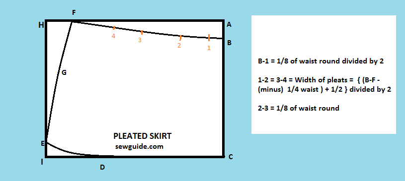 how to stitch a pleated skirt