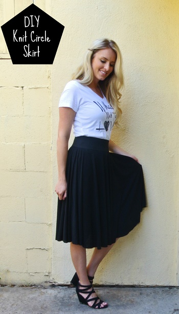 circle skirt sew how to