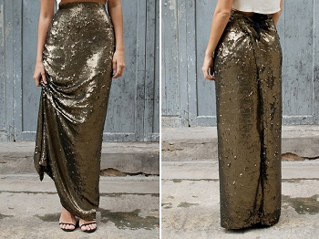 how to make a maxi skirt tutorial