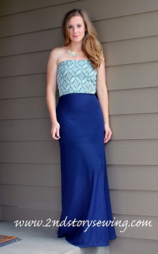 diy strapless maxi dress tutorial
