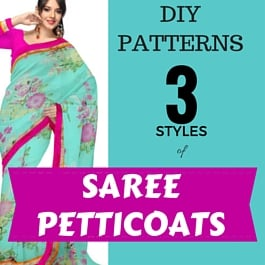 how to sew sari petticoats