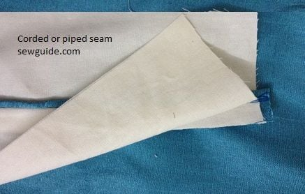 how to sew corded or piped seam