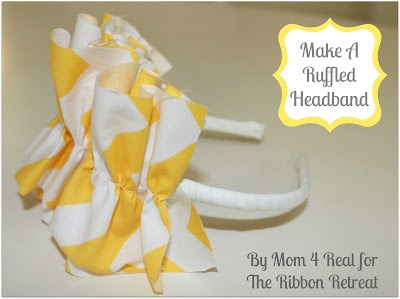 ruffled headband tutorial
