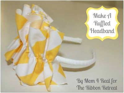ruffled headband tutorial