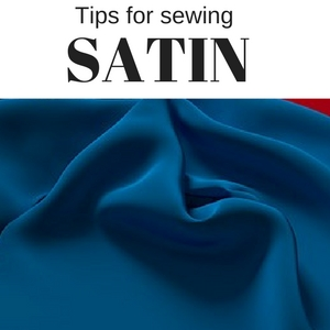 sewing with satin